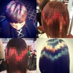 チップチューナーならやってみたい!?ドットのように髪を染める最新カラーリング
