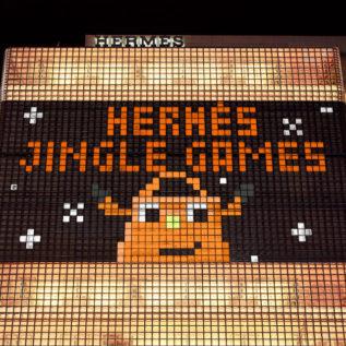 銀座・メゾンエルメスがゲームに変身!? 「HERMÈS JINGLE GAMES!」